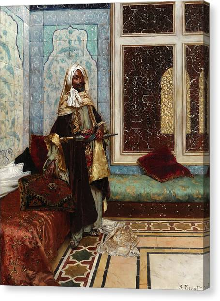 Emir Canvas Print - The Palace Guard, Awaiting An Audience by Rudolf Ernst