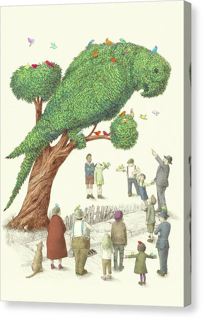 Tree Canvas Print - The Parrot Tree by Eric Fan