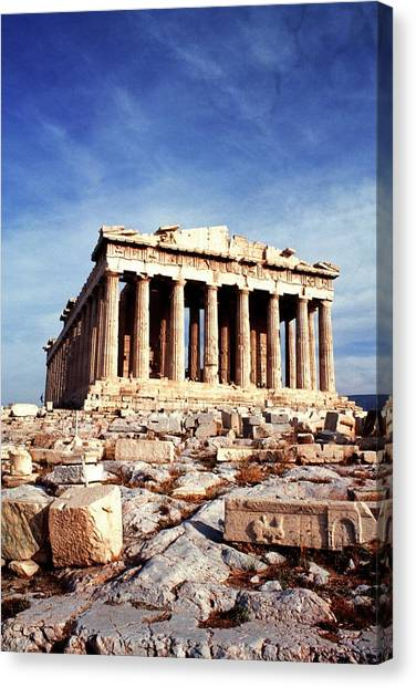The Parthenon At The Acropolis, Athens Canvas Print