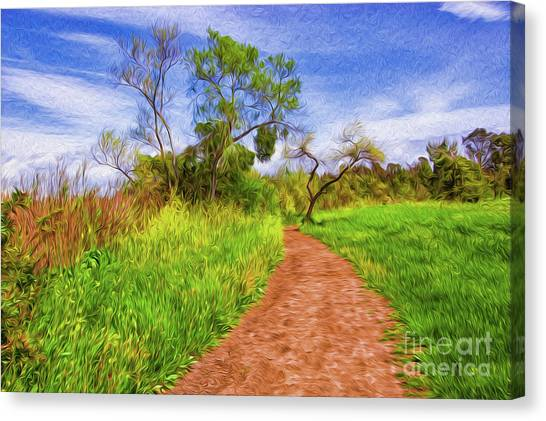 The Path That Lies Ahead Rendition II Canvas Print