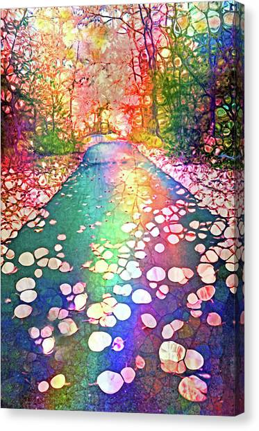The Path Where Rainbows Meet Canvas Print
