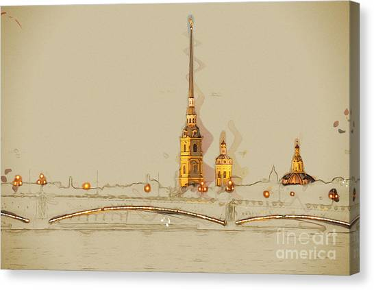 Russian Blue Canvas Print - The Peter And Paul Fortress, Saint by Romas photo