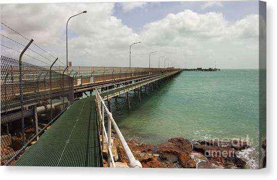North Shore Canvas Print - The Port Of Broome With A Mesh  Walk by Alybaba