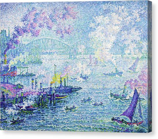 Signac Canvas Print - The Port Of Rotterdam - Digital Remastered Edition by Paul Signac