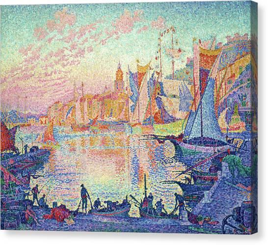 Signac Canvas Print - The Port Of Saint-tropez - Digital Remastered Edition by Paul Signac