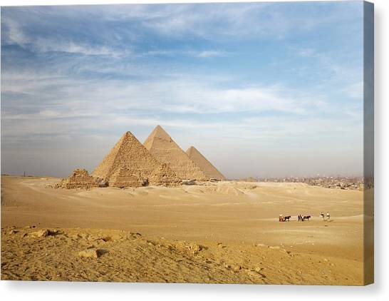 Giza Pyramids Canvas Prints