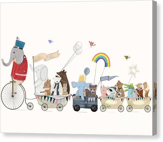 The Rainbow Parade Canvas Print by Bri Buckley