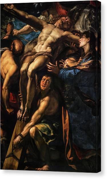 Procaccini Canvas Print - The Raising Of The Cross, 1620 by Giulio Cesare Procaccini