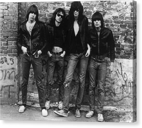 The Ramones Canvas Print by Roberta Bayley
