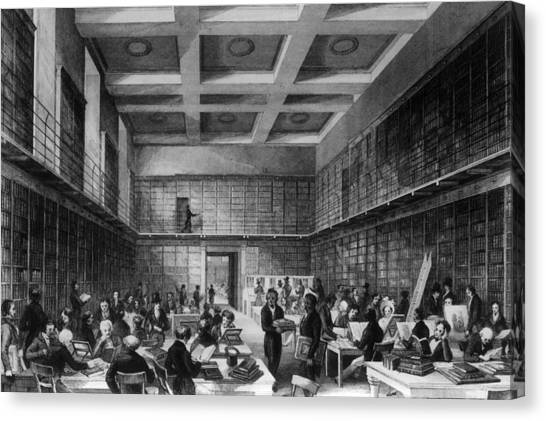 The Reading Room Canvas Print by Hulton Archive