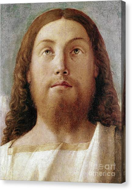 Messiah Canvas Print - The Redeemer Detail Of A Painting By Giovanni Bellini  by Giovanni Bellini