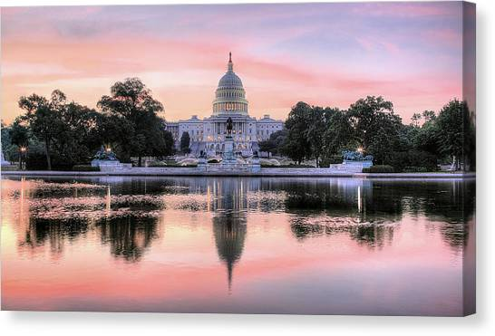 Mall Canvas Print - The Republic Awakens by JC Findley