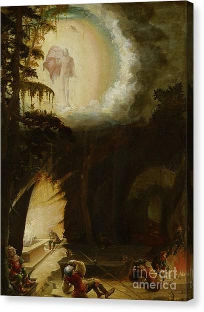 Resurrected Canvas Print - The Resurrection, 1527  by Albrecht Altdorfer