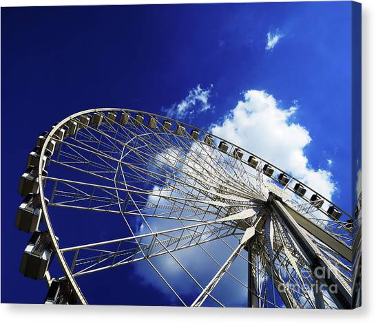 Canvas Print featuring the photograph The Ride To Acrophobia by Rick Locke