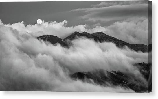 The Rising Of Full Moon Canvas Print