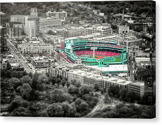 Fenway Canvas Print - The Road To Fenway Park  Boston Red Sox by Carol Japp