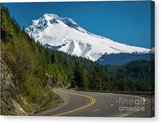 The Road To Mt. Hood Canvas Print