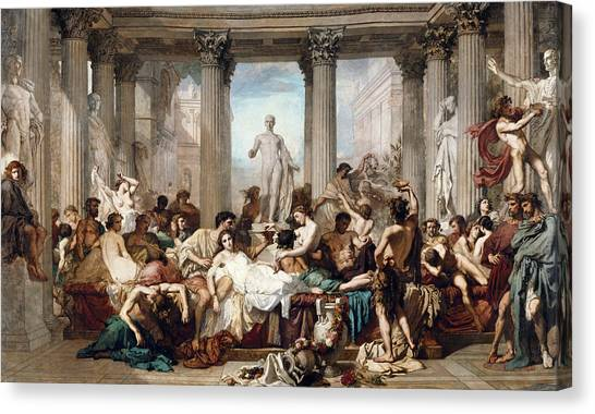 God Of War Canvas Print - The Romans In Their Decadence by Thomas Couture