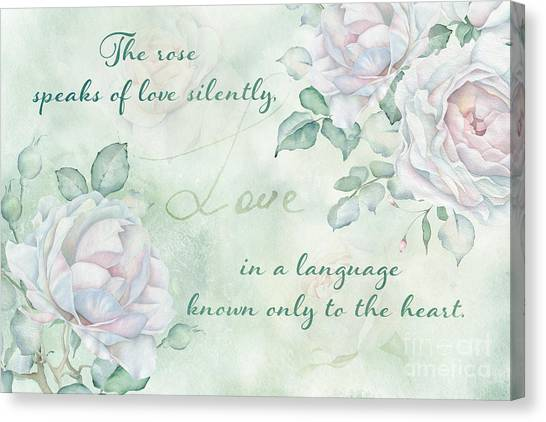 The Rose Speaks Of Love Canvas Print