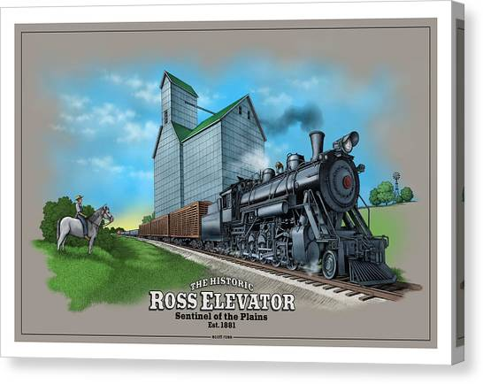 The Ross Elevator Sentinel Of The Plains Canvas Print