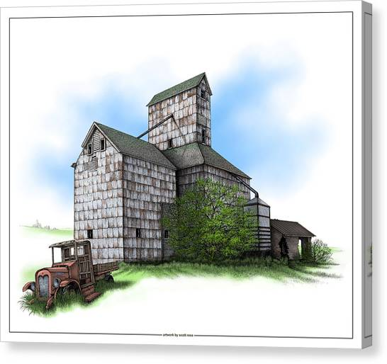 The Ross Elevator Summer Canvas Print