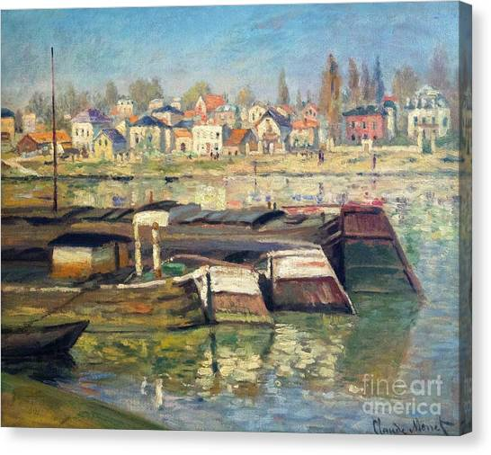 State Hermitage Canvas Print - The Seine At Asnieres by Peter Barritt