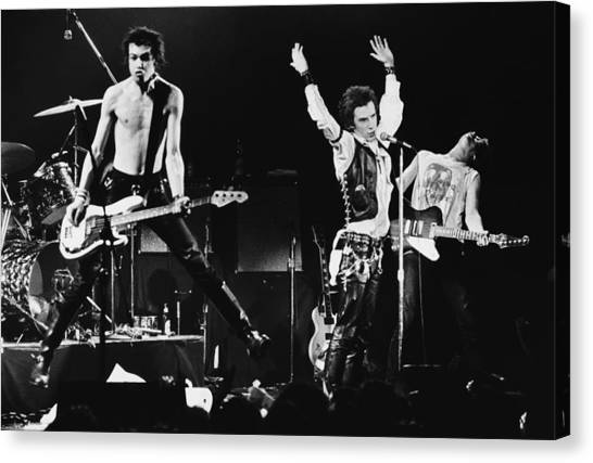The Sex Pistols In Concert At The Canvas Print