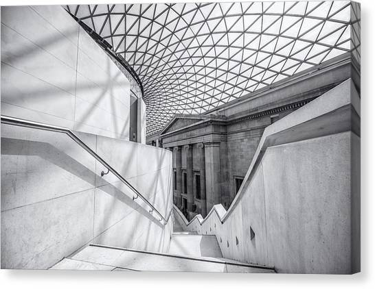The British Museum Canvas Print - The Staircase by Martin Newman