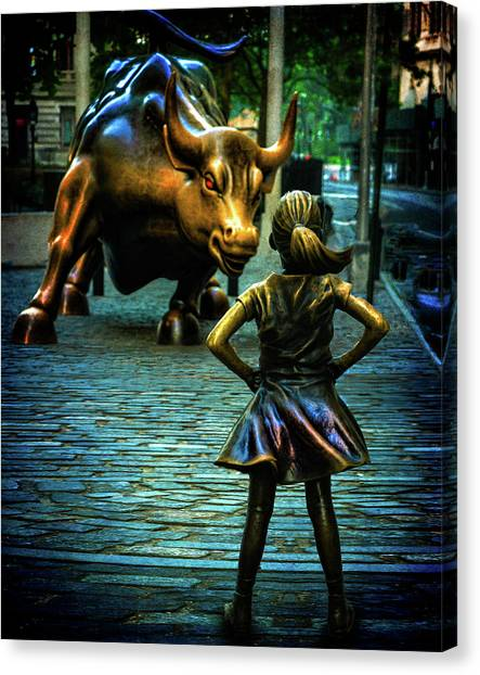 Canvas Print featuring the photograph The Standoff by Chris Lord