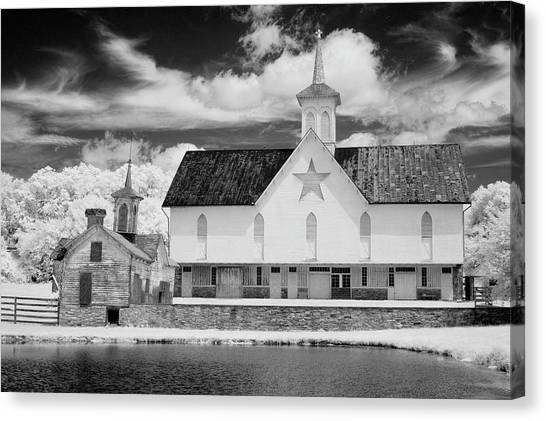 Impression Canvas Print - The Star Barn In Infrared by Paul W Faust -  Impressions of Light