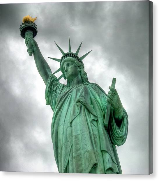 The Statue Of Liberty Nyc Under A Canvas Print
