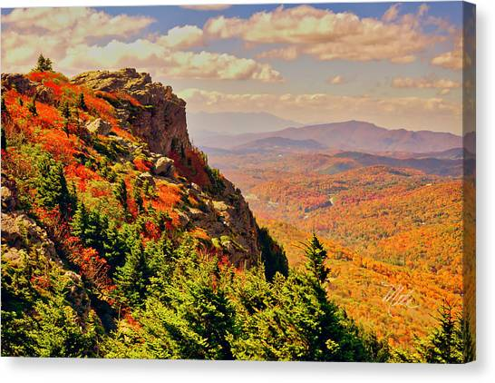 The Summit In Fall Canvas Print