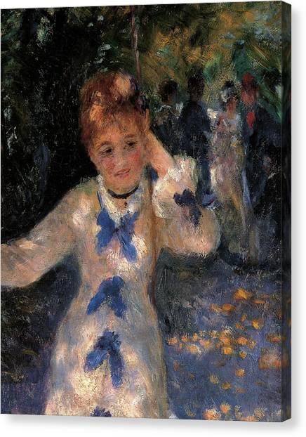 The Swing, By Pierre-auguste Renoir Canvas Print