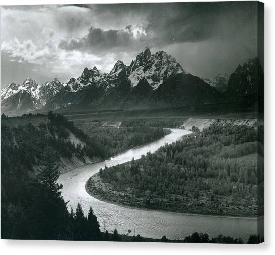 The Tetons - Snake River Canvas Print