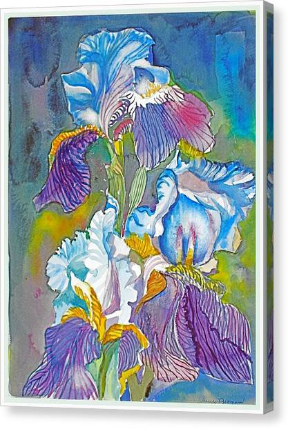 Canvas Print - The Three Irises by Mindy Newman