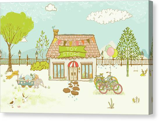 The Toy Store Canvas Print