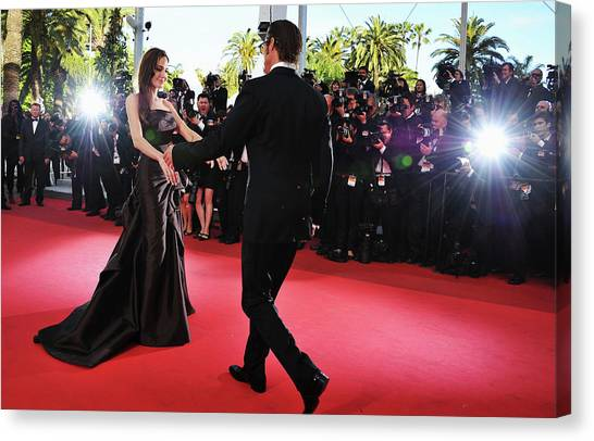The Tree Of Life Premiere - 64th Annual Canvas Print