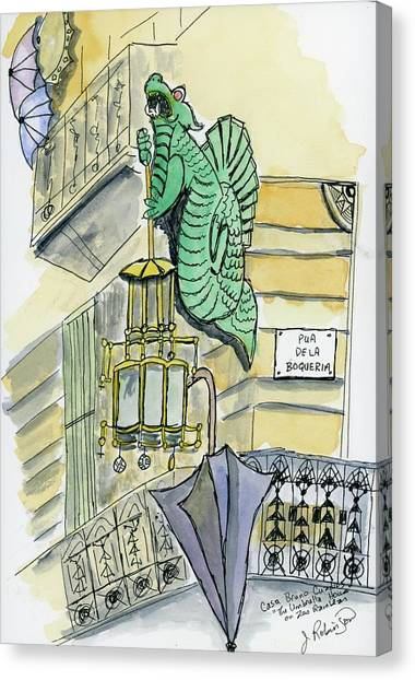 The Umbrella Building Canvas Print