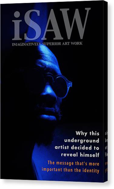 Canvas Print featuring the digital art The Underground Artist by ISAW Company