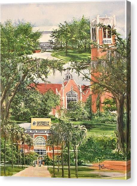 University Of Florida Canvas Print - The University Of Florida by Nancy Raborn