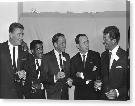 The Usual Rat Pack Canvas Print