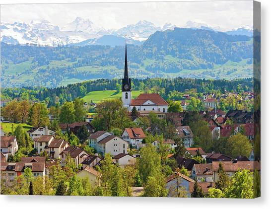 The Village Of Gossau Canvas Print