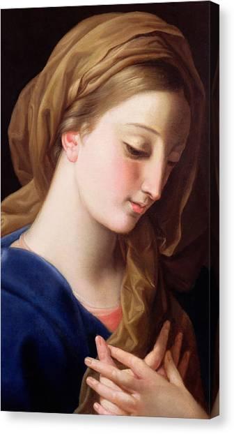 The Annunciation Canvas Print - The Virgin Annunciate by Pompeo Girolamo Batoni