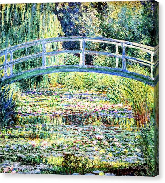 The Water Lily Pond By Monet Canvas Print