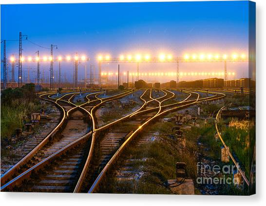 Flash Canvas Print - The Way Forward Railway by Hxdyl