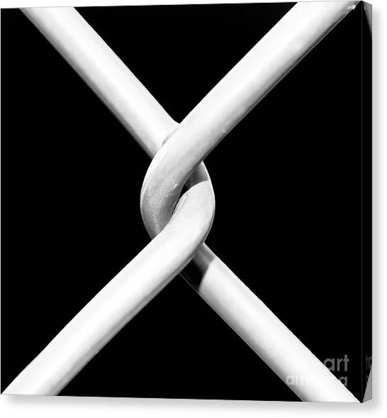 Chain Link Fence Canvas Print - The Weakest Link by John Rizzuto