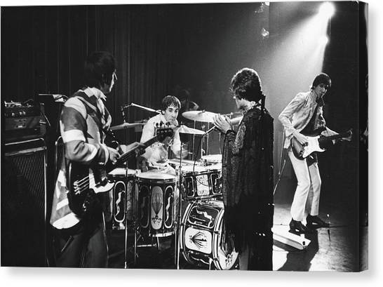 The Who At The Fillmore East Canvas Print by Fred W. McDarrah