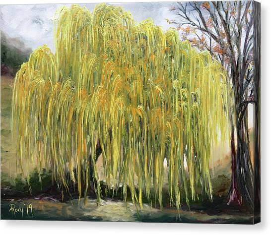 Farmhouse Canvas Print - The Willow Tree by Roxy Rich