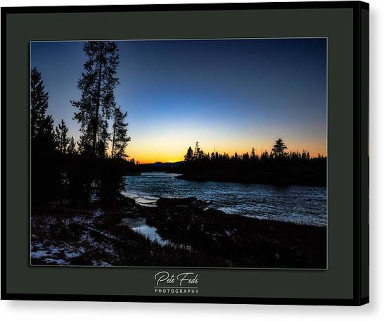 Canvas Print featuring the photograph The Yellowstone River by Pete Federico