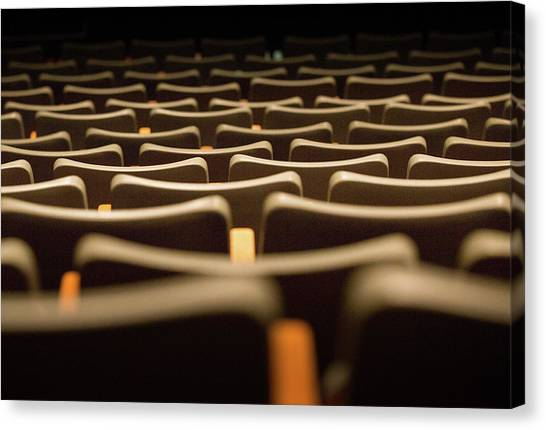 Canvas Print featuring the photograph Theater Seats by Juan Contreras